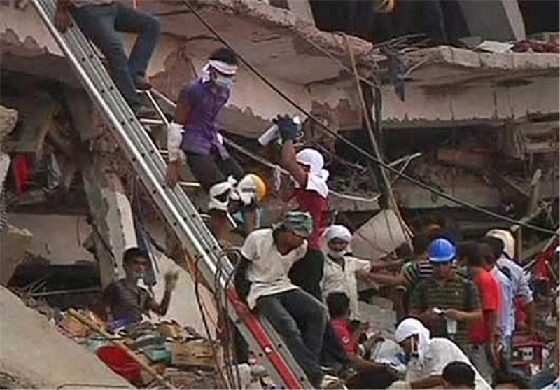 عملیات نجات قربانیان ساختمان فروریخته در بنگلادش ادامه دارد