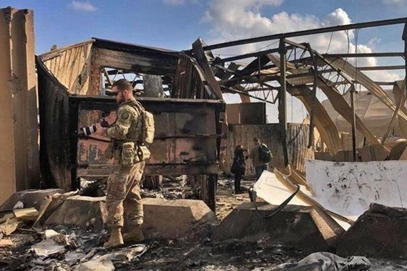 حمله موشکی به پایگاه نظامی آمریکا در بغداد