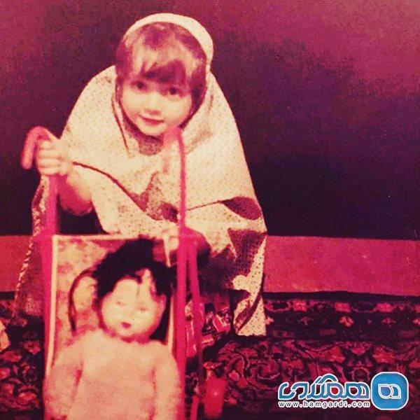 عکس کودکی بهنوش طباطبایی