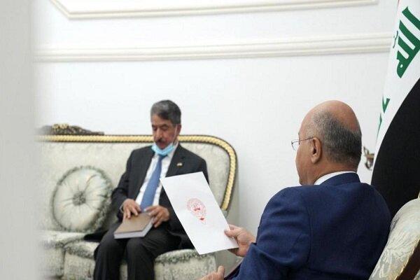 شیخ نواف الصباح از برهم صالح برای سفر به کویت دعوت به عمل آورد