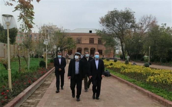 بازدید رئیس کمیته محیط زیست شورای شهر تهران از اردوگاه منظریه و عمارت وثوق الدوله