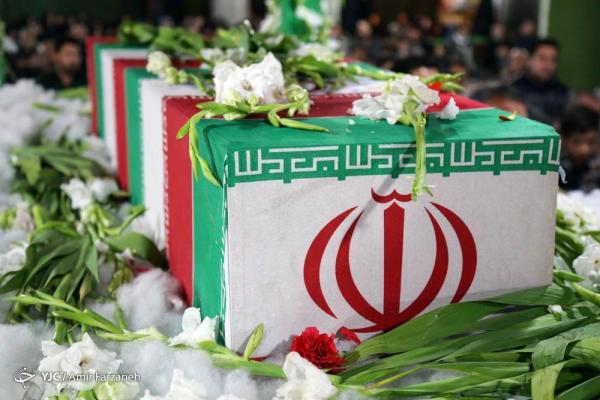 تشییع پیکر مطهر 4 شهید گمنام دفاع مقدس در کردستان