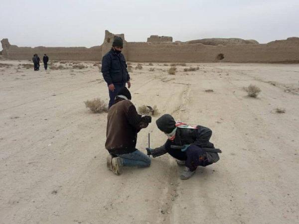 خبرنگاران نقشه عرصه تپه حصار دامغان پیاده سازی و علامت گذاری شد