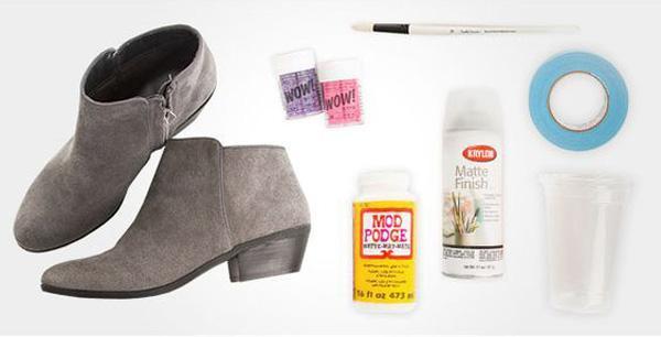تزیین کفش های قدیمی با 4 روش ساده و باحال