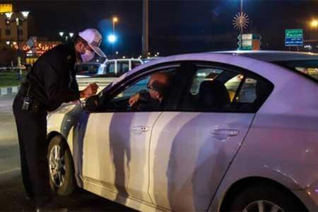 جریمه بیش از 29 هزار خودرو در شب گذشته