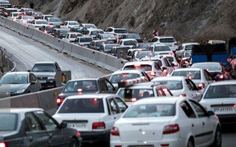 ترافیک سنگین در محور های منتهی به شمال